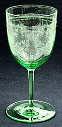 Etched Uranium Drinking Glass.