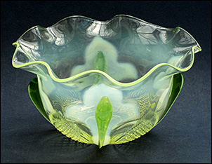 Uranium Glass bowl - possibly by Walsh.